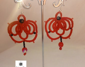 tatting Romantic Weave Earrings