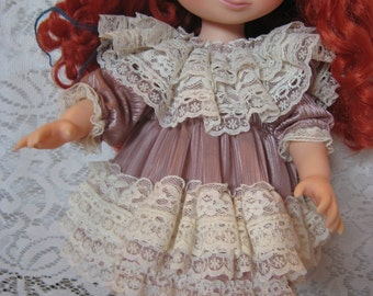 "Lacy Ruffled Frothy Dress for Sasha, Disney Animator's, Mandy or other 16"" Dolls"