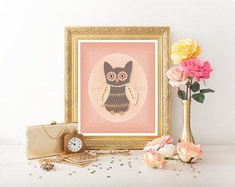 Owl Decor, Nursery Printable, Owl Printable, Owl Decor, Owl Digital Download, Owl Decor, Owl, Nursery Owl, Nursery Art, Owl Nursery Art 0108