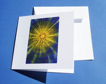 """""""Sun"""" card, greeting card with envelope."""