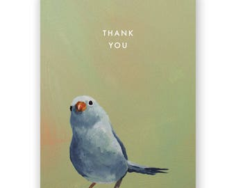 Blue Bird Thank You Card - Birds - Greeting - Stationery