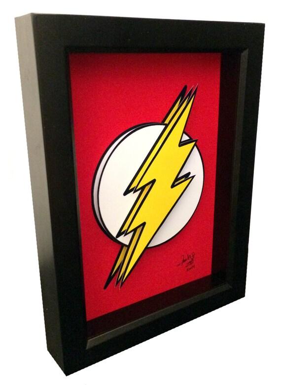 the flash poster artwork symbol 3d pop art comic artwork. Black Bedroom Furniture Sets. Home Design Ideas