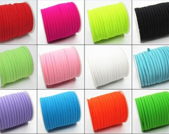 27 Colors Elastic lycra cord Stitched round lycra cord Lycra strip