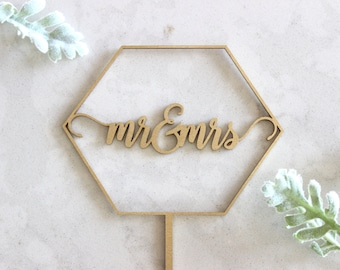 CUSTOM Geometric Cake Topper // Wedding Cake Topper // Custom Cake Topper // Geometric decor // Wood Cake Topper // Geometric wedding