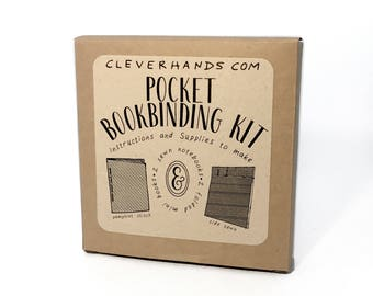 Pocket bookbinding kit - learn to make two sewn bindings,and two bonus folded mini books