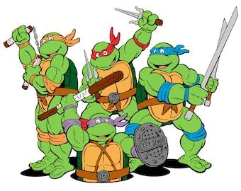 tmnt etsy rh etsy com teenage mutant ninja turtles shell clipart teenage mutant ninja turtles clipart black and white