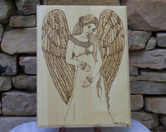 Angel Woodburning Pyrography