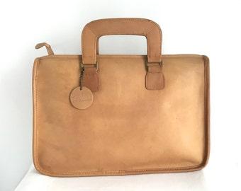 Vintage John Weitz Leather Slim Satchel