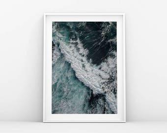 Ocean Print - Sea Print - Affiche Scandinave - Ocean Wall Art - Ocean Waves - Sea Print - Minimalist Art - Sea Wall Art - Ocean Waves Print