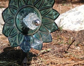 Repurposed glass flower
