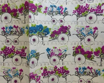 "Vintage Folded Gift Wrap Wedding Shower by Dennison 2 Sheets 20""X30"""