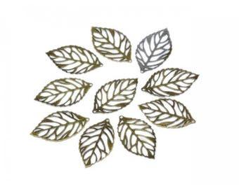 50 prints leaves Bronze 24mm