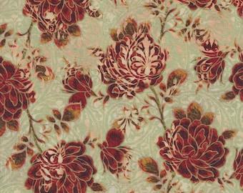 Pastiche, In the Beginning Fabrics, Jason Yenter, Rose Vine, Red/Cream