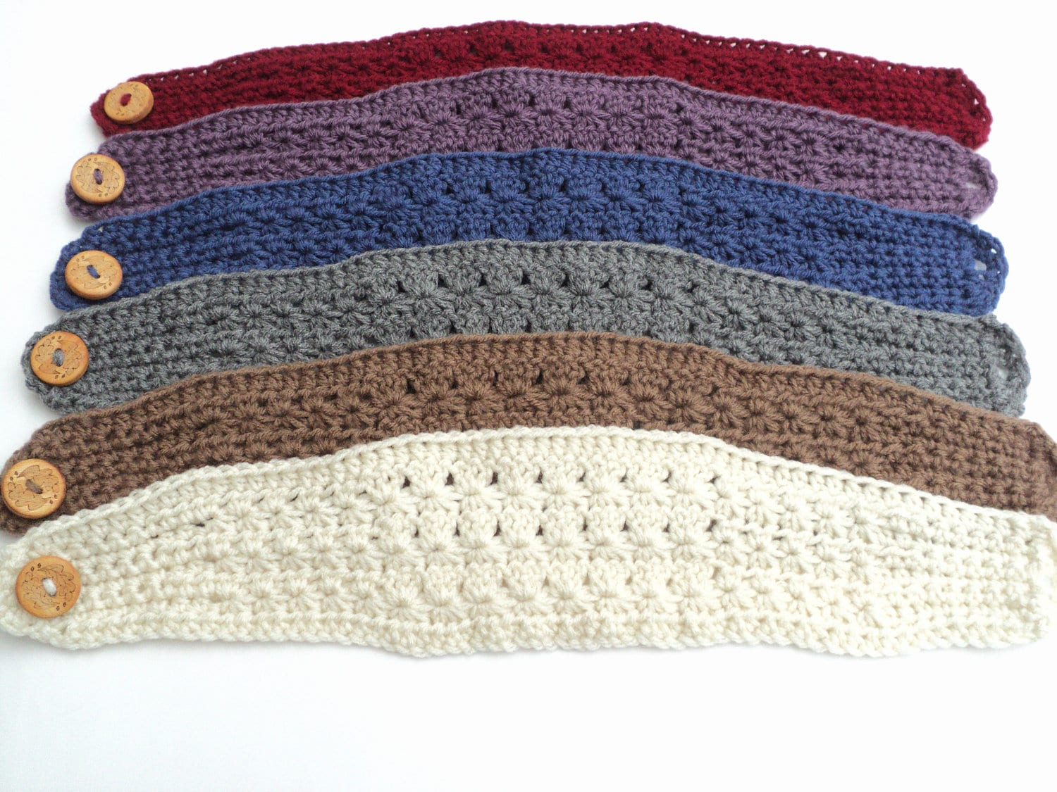 Crochet pattern star stitch wide headband pattern adult and zoom dt1010fo