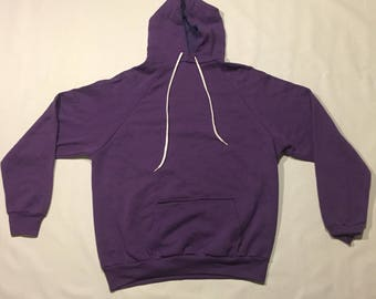 Vintage hoody made in the USA purple soft and thin