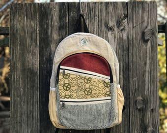Peace Natural Hemp Backpack
