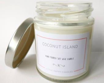 Coconut Island - Handmade soy wax candle