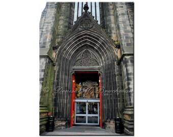 Edinburgh Scotland Royal Mile Rustic Stone and Wood Doorway Fine Art Photograph - Scottish Door Photos - Rustic Scottish Decor - Wall Art