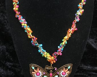 Butterfly Spring Necklace