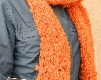 Orange Scarf Sweater
