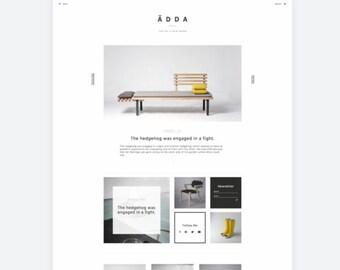 Design & Lifestyle Blogger — Modern Blog Theme — Minimal Blog Template — Clean Blog Design — Fashion Blogger — Portfolio Template / Ädda