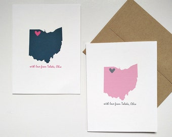 With Love From Toledo Ohio Card – Any Occasion Card