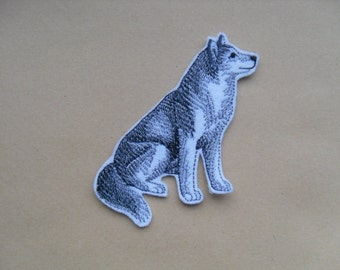 Siberian Husky / Patch / iron on Patch /