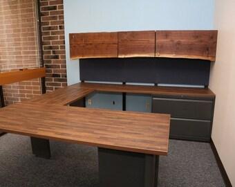 Custom U Shaped Office Desk Industrial office furniture
