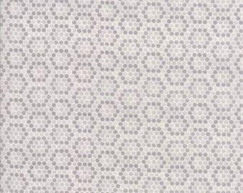 Bee Inspired Dove Grey Honeycomb 19798 12 Moda Fabrics By Deb Strain 100% Cotton Quilting Fabric