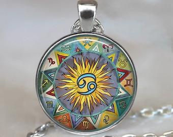 Bohemian Cancer necklace, Boho Cancer pendant Zodiac necklace Zodiac pendant Zodiac jewelry astrology jewelry key chain key ring key fob