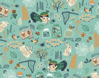 Birch Hidden Garden Bug Catcher Organic Cotton Fabric