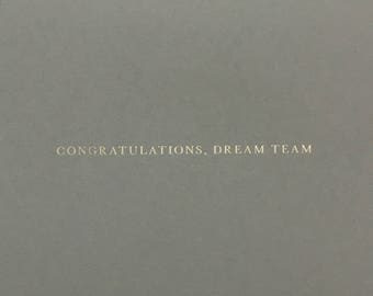 Wedding Card Congratulations Card Dream Team, engagement card for couple, love card, wedding congratulations card