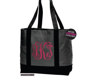 MONOGRAM Tote Bag. Beach Bag. Beach Tote. Wedding Bag. Wedding Tote. Bridal Shower Gift. Monogram Beach Bag, Bridesmaid Tote. Bridesmaid Bag