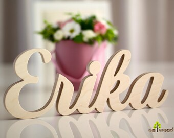 Wooden Name Nursery Letters Baby Room Name Gift For Birthday Birthday Decor Nursery Name Nursery Sign Free Standing Name NOT PAINTED
