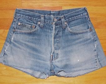 "Levis Red Tab Cut Off Jean Shorts Daisy Dukes 28"" Waist - Women's"