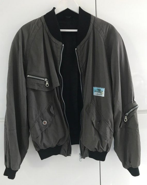 Vintage Airfield jacket    Vintage bomber jacket   vintage Airfield jacket   vintage short jacket     vintage khaki bomber   size M