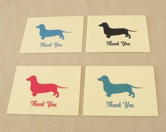 Dachshund Thank You Cards Set - Doxie Dog Notecards - Dachshund Stationery
