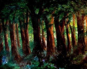Light of Evenfall print, image of original acrylic painting
