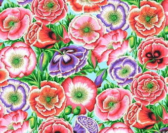 1/2 yard Poppy Garden in Pink fabric designed by Philip Jacobs PJ095 Spring 2018