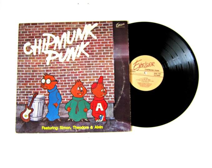 Chipmunk Punk  Alvin Simon Theodore Vinyl Record Album 12 Inch LP Vintage Music Excelsior Record Album