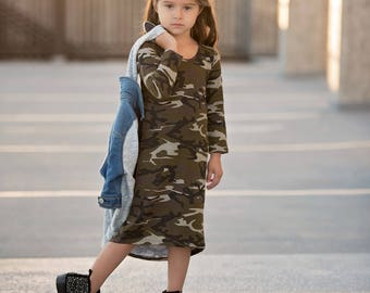 Baby girl clothes, baby girl, girls maxi dress, baby camo dress, maxi dress, baby girl dress, girls camo dress, toddler maxi dress