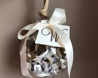 Rustic Wedding Invitation Ornament // Rustic Wedding // Great Gift for the Bride and Groom!