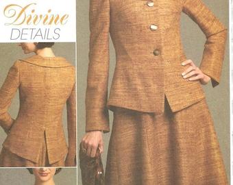 Vogue 8473 / Divine Details / Out Of Print Sewing Pattern / Dress Jacket Suit / Sizes 6 8 10 12