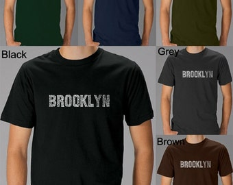 Men's T-shirt - Brooklyn Neighborhoods - Created using some of Brooklyn's most popular neighborhoods