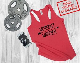 WORKOUT WARRIOR - Women's Custom Workout Tank Top - Inspirational/Motivational/Funny Gym Fitness Tank Top