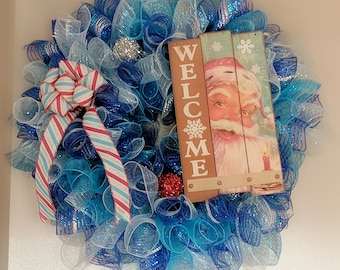Santa Welcome Wreath