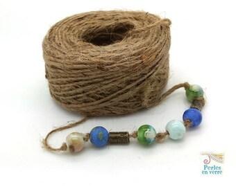 1 spool Twine hemp 50 meters, 2mm diameter, for ethnic jewelry Boho (FIL121)
