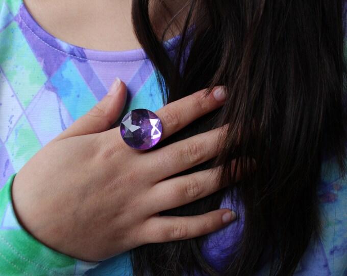 Large Diamonte Statement Ring.