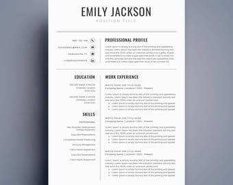 Resume Template | CV Template | Professional Resume Template | Resume  Template Word | Creative Resume