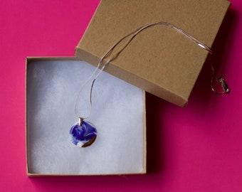 Cobalt blue ceramic necklace / Mothers day necklace / Pendant necklace / Porcelain jewelry / Ceramic necklace